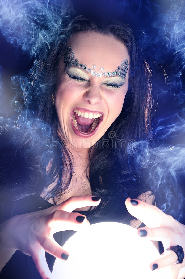 Download Make Wishing With A Magic Crystal Ball Stock Image - Image: 8854813
