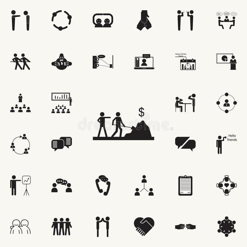 make work icon. Detailed set of Conversation and Friendship icons. Premium quality graphic design sign. One of the collection icon stock illustration
