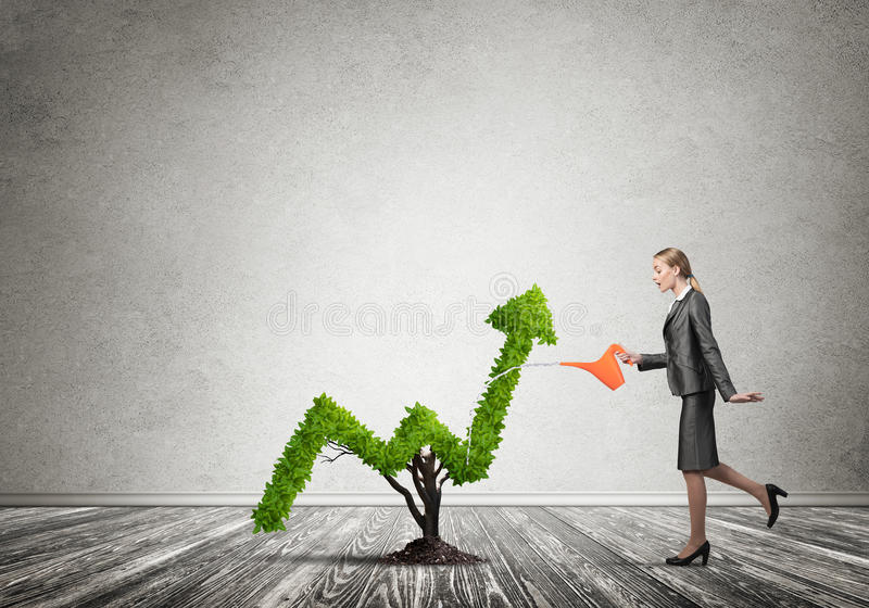 Make your money grow stock images