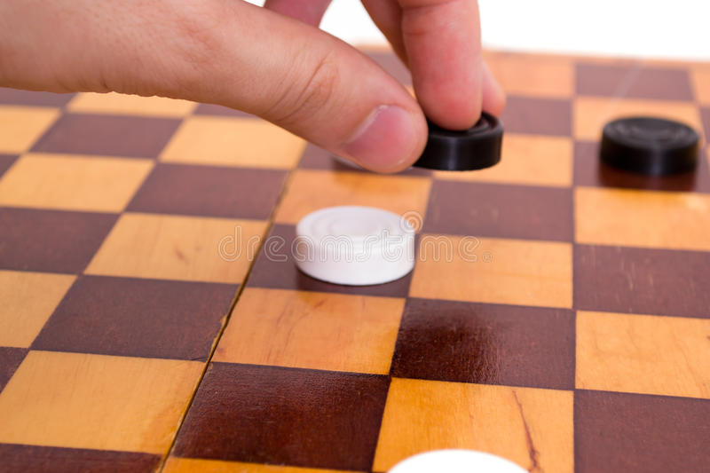 Make your move. On white royalty free stock image