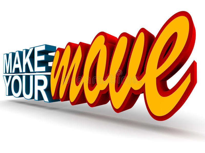 Make your move vector illustration