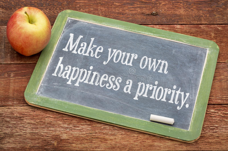Make your own happiness priority stock photos