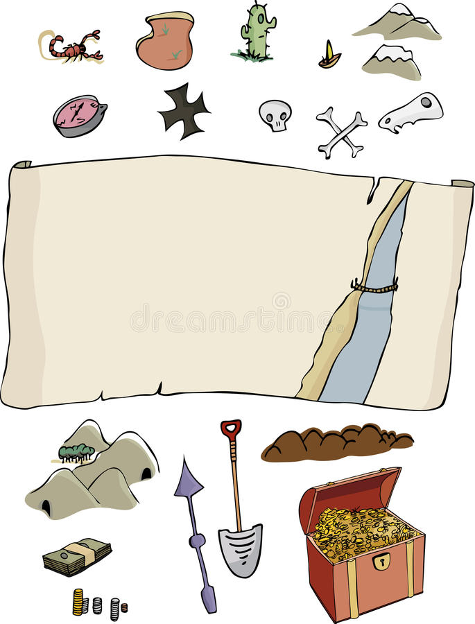 Download Make Your Own Treasure Map Royalty Free Stock Photography - Image: 17419127
