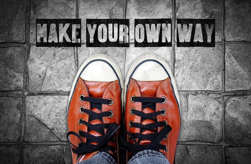 Make Your Own Quote Glamorous Make Your Own Way Inspiration Quote Stock Illustration  Image