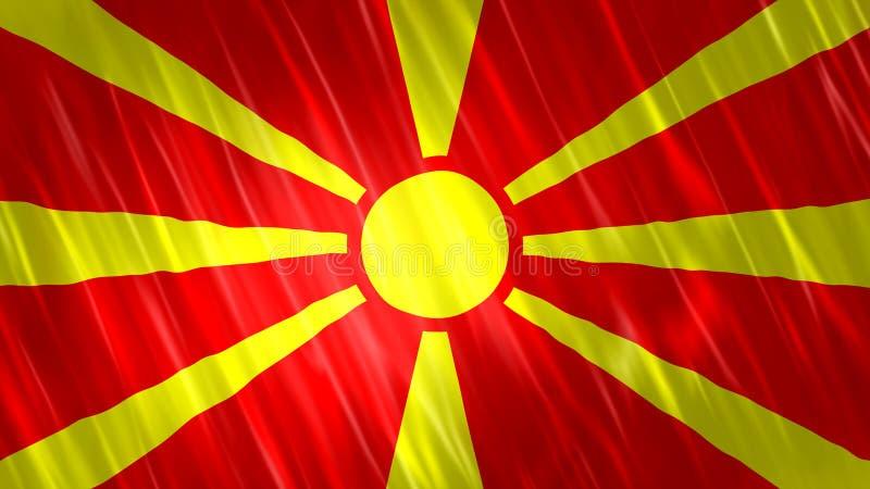 Makedonien flagga arkivbild