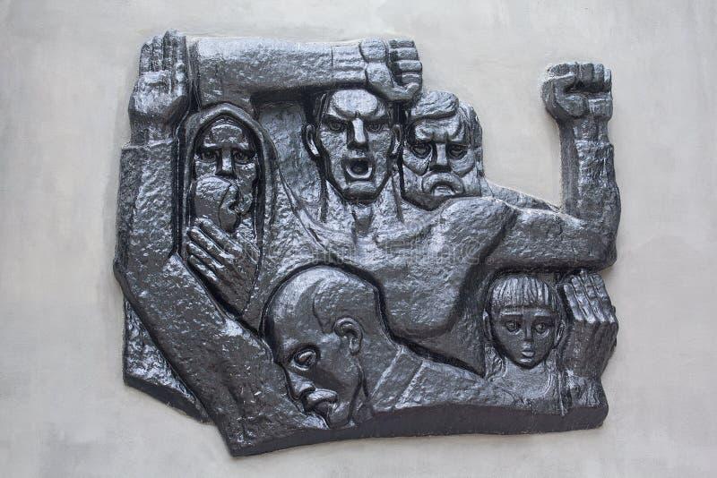 Makeevka; Украина - 28-ое июля; 2016: Памятник к жертвам Na стоковое фото rf