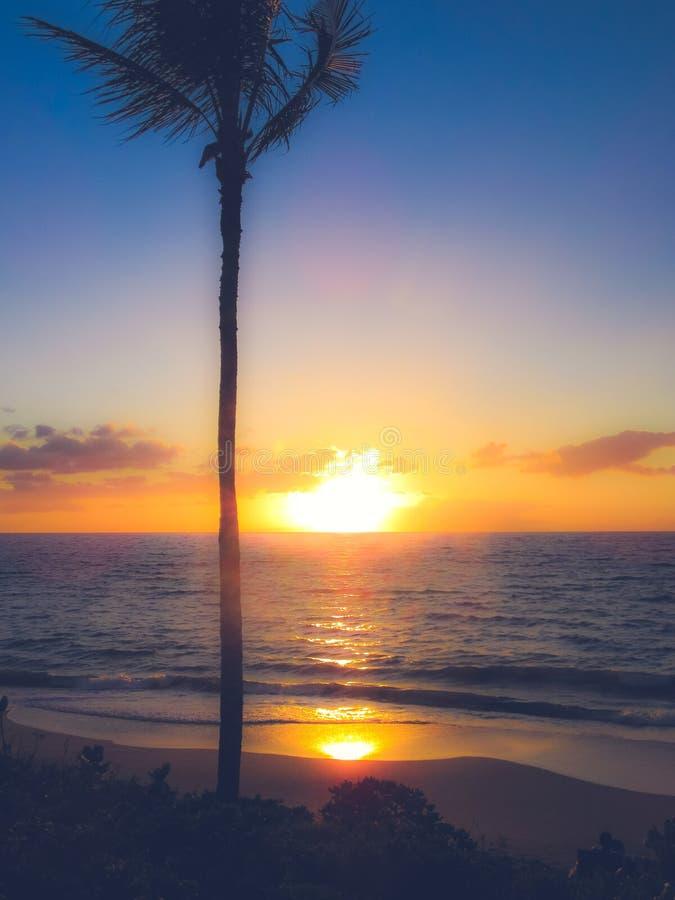 Makena Beach Sunset royalty-vrije stock foto's