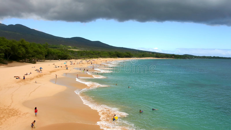 Makena big beach royalty free stock image