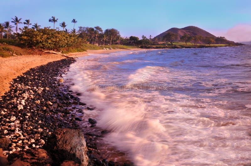 Makena strand, Maui, Hawaii arkivbilder