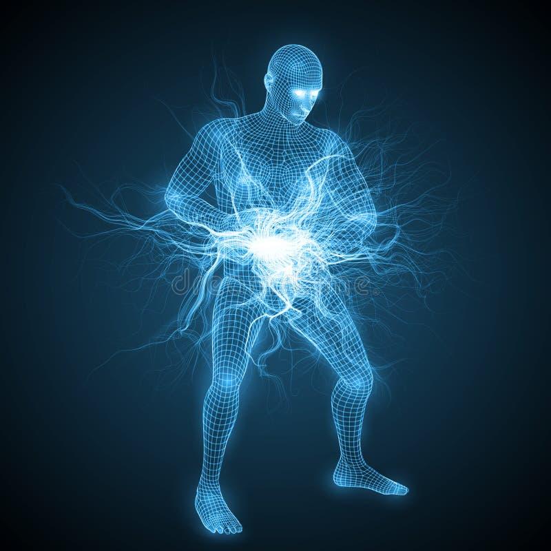 Makend tai tot chi geestelijke energiebal stock illustratie