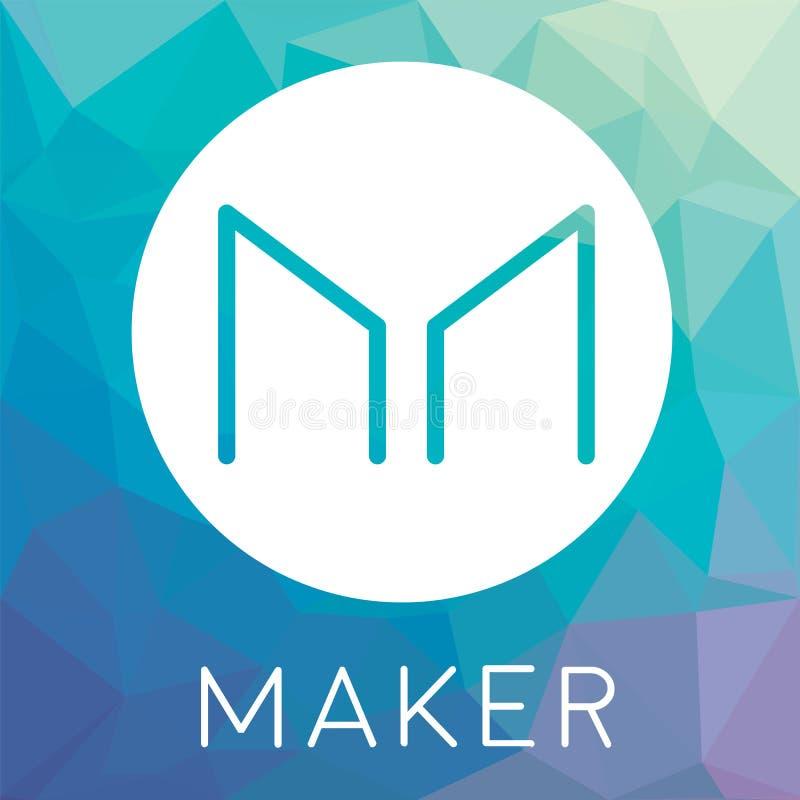 Maker MKR decentralized blockchain cryptocurrency vector logo. Maker MKR logo - decentralized blockchain cryptocurrency and smart contract platform vector illustration