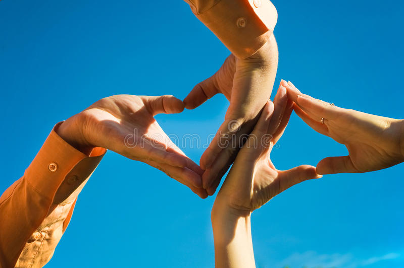 Download Makes Hands Shaping Heart's Stock Image - Image: 11290367