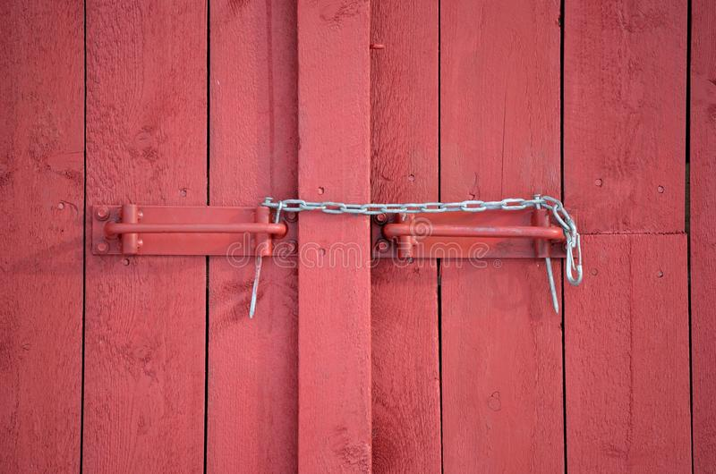 Download Makeshift Chain Lock On Red Barn Door Stock Photo - Image of outside building & Makeshift Chain Lock On Red Barn Door Stock Photo - Image of outside ...