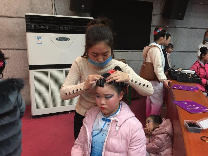 Makeup- 2017 årliga Pekingdansakademi som graderar för barn` s för prov den utstående utställningen Jiangxi för prestation för un royaltyfria foton