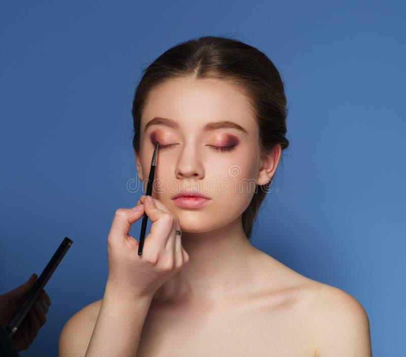 makeup καλλυντικό Παλέτα τόνου δερμάτων στοκ φωτογραφίες με δικαίωμα ελεύθερης χρήσης