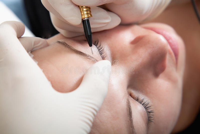makeup μόνιμος στοκ εικόνα με δικαίωμα ελεύθερης χρήσης