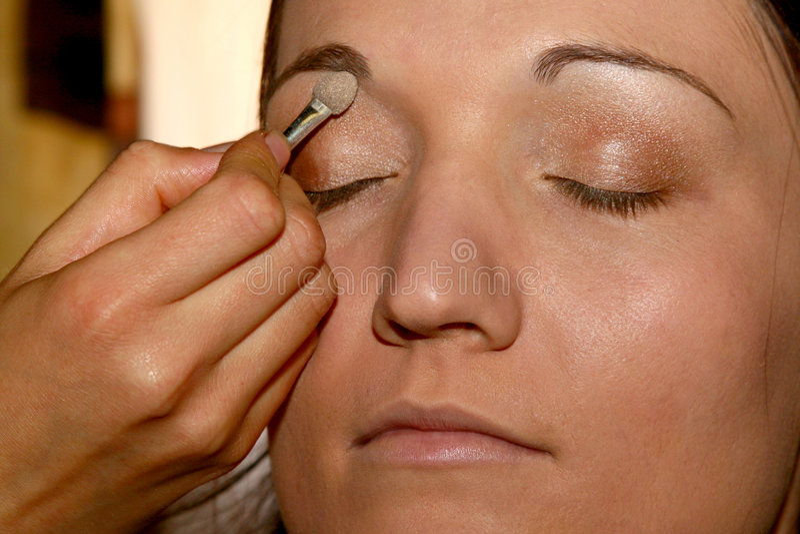 makeup royaltyfri bild