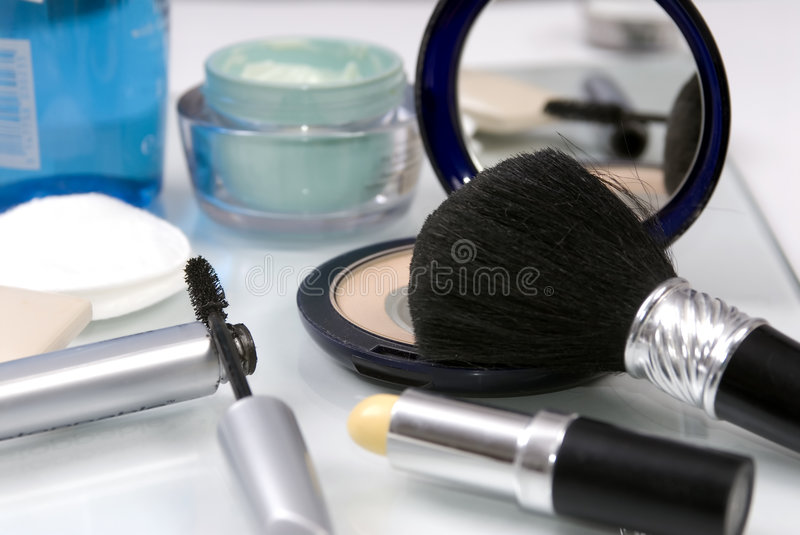 Download Makeup stock image. Image of make, cream, attractive, mascara - 1372045
