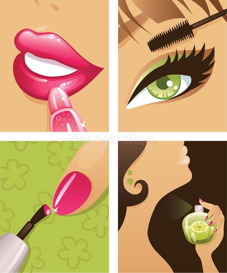 makeup 2 royaltyfri illustrationer