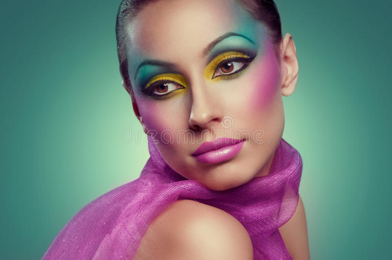 Download Makeup stock photo. Image of many, rainbow, close, part - 28262288