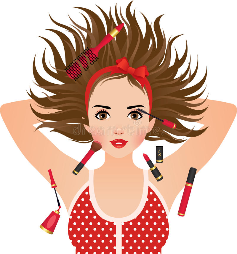 Download Makeup stock vector. Image of hair, hairstyle, glamour - 28607251