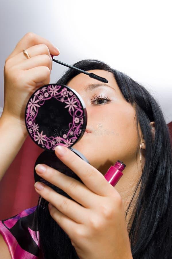 makeup royaltyfri fotografi