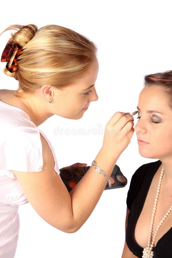 Download Makeup artist stock image. Image of brush, applying, pencil - 3941659