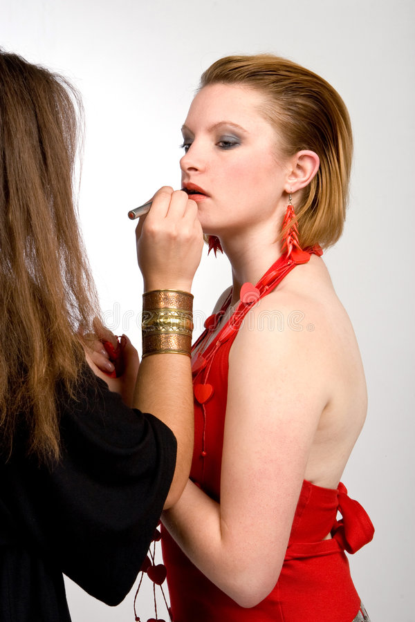 Download Makeup artist stock image. Image of applying, beauty, blond - 3984179