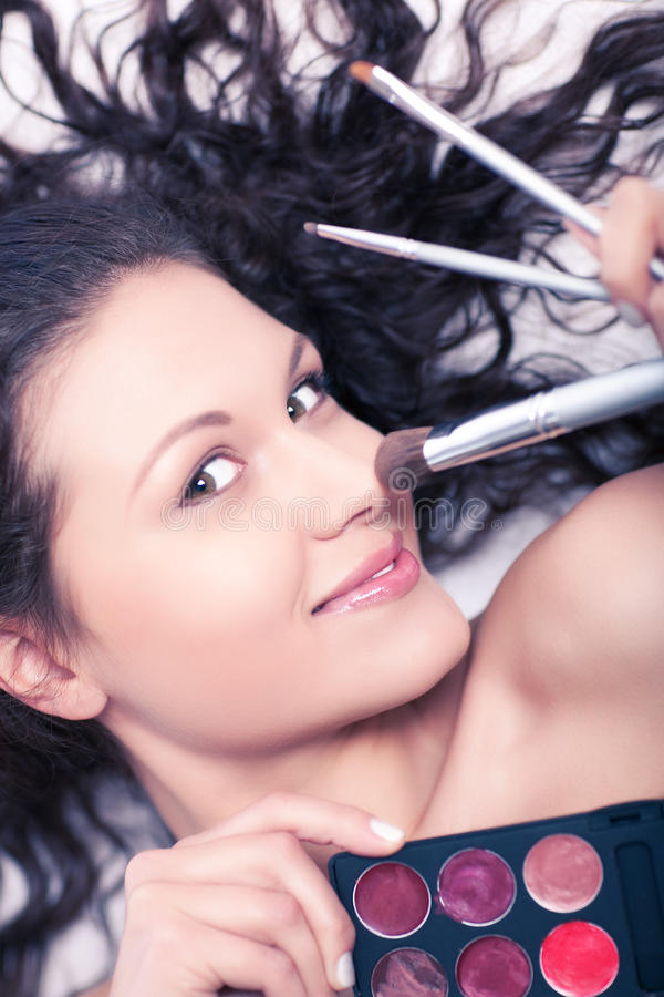 Makeup Artist Stock Image