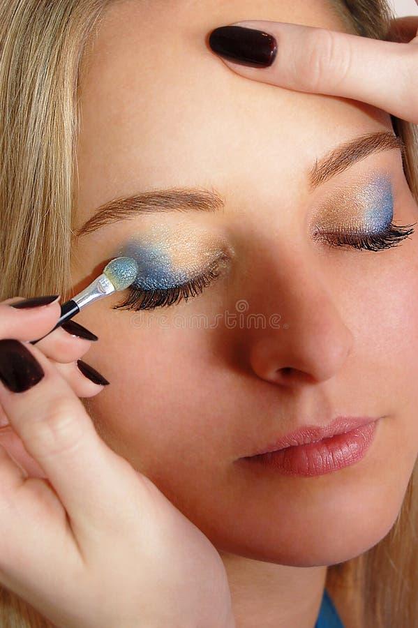 Free Makeup Artist Applying Cosmetics Royalty Free Stock Photography - 12766187