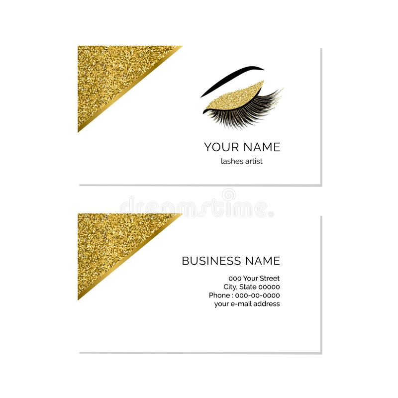 Makeup Artist Business Card Vector Template Stock Vector ...