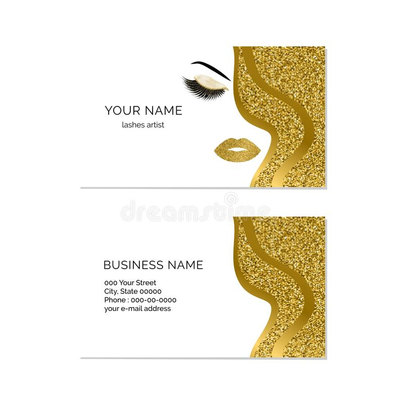 Makeup artist business card vector template stock vector download makeup artist business card vector template stock vector illustration of glitter makeup flashek Images