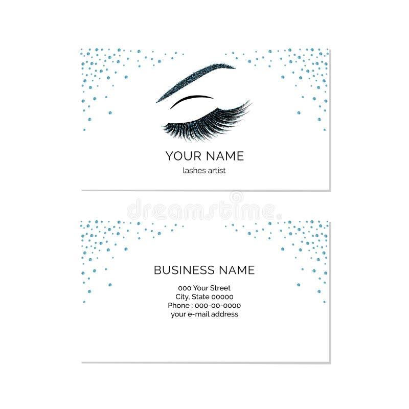 Makeup artist business card vector template. Makeup artist business card template