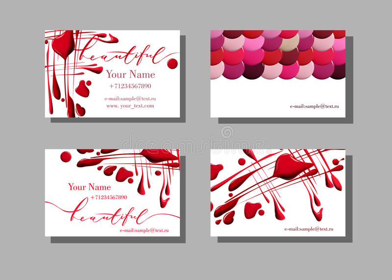Makeup artist business card vector pattern with cosmetic elements download makeup artist business card vector pattern with cosmetic elements of the drops of nail colourmoves