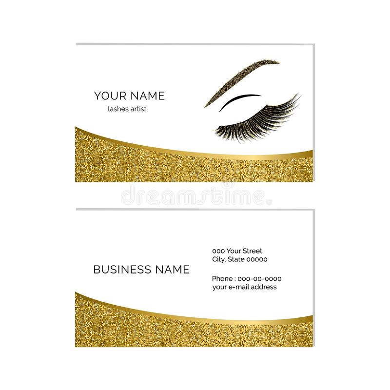 Makeup artist business card vector template stock vector download makeup artist business card vector template stock vector illustration of lash glitter cheaphphosting Image collections