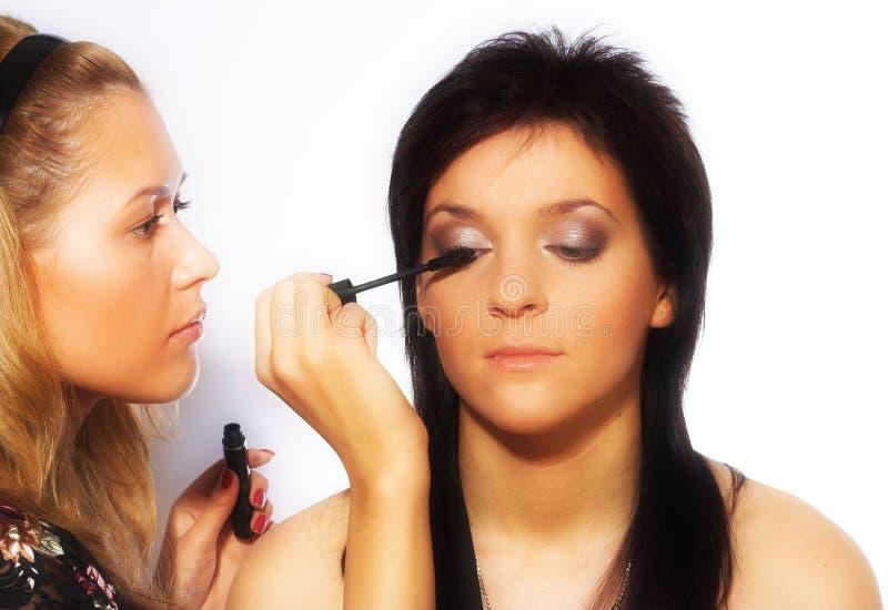 Download Makeup artist at work stock image. Image of elegance - 10809609
