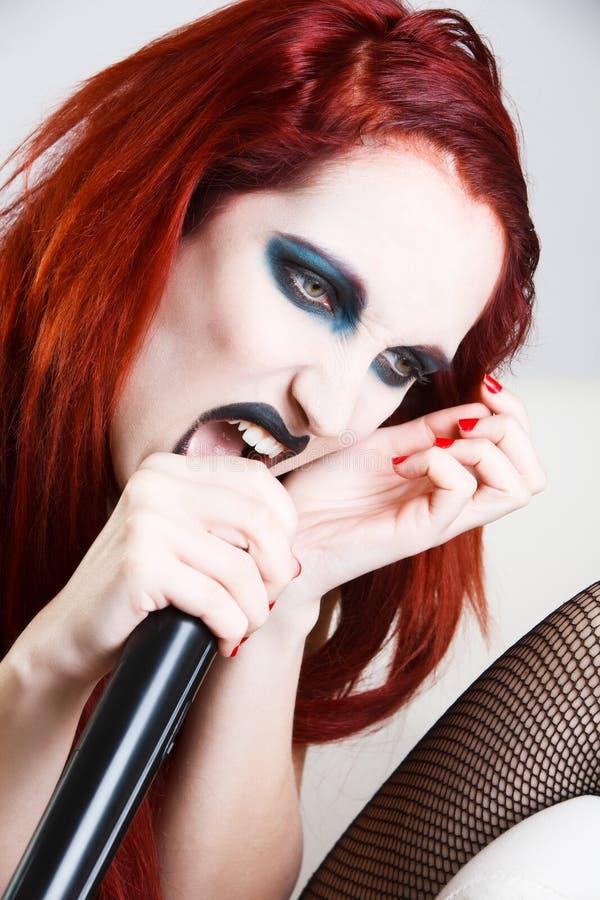 makeup artystyczna ekspresyjna kobieta zdjęcie royalty free