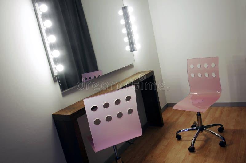 Makeup avspeglar fotografering för bildbyråer