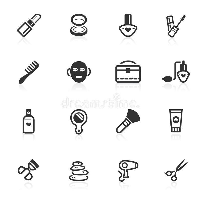 Makeup & Beauty Icons - minimo series royalty free stock photography