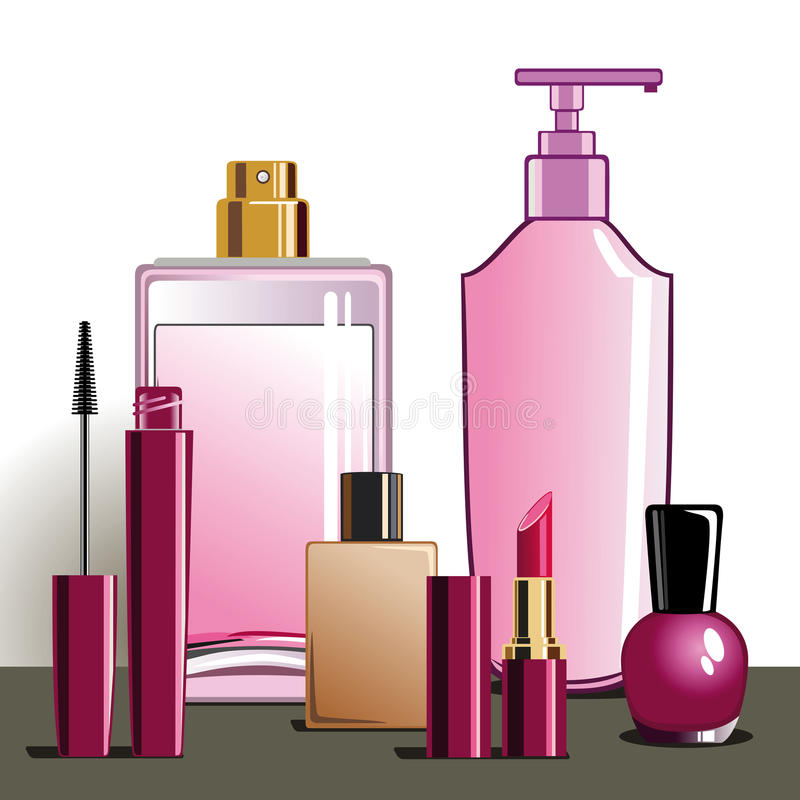 MakeUp and beauty products royalty free stock photography