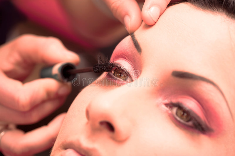 Makeup and beauty treatment stock image