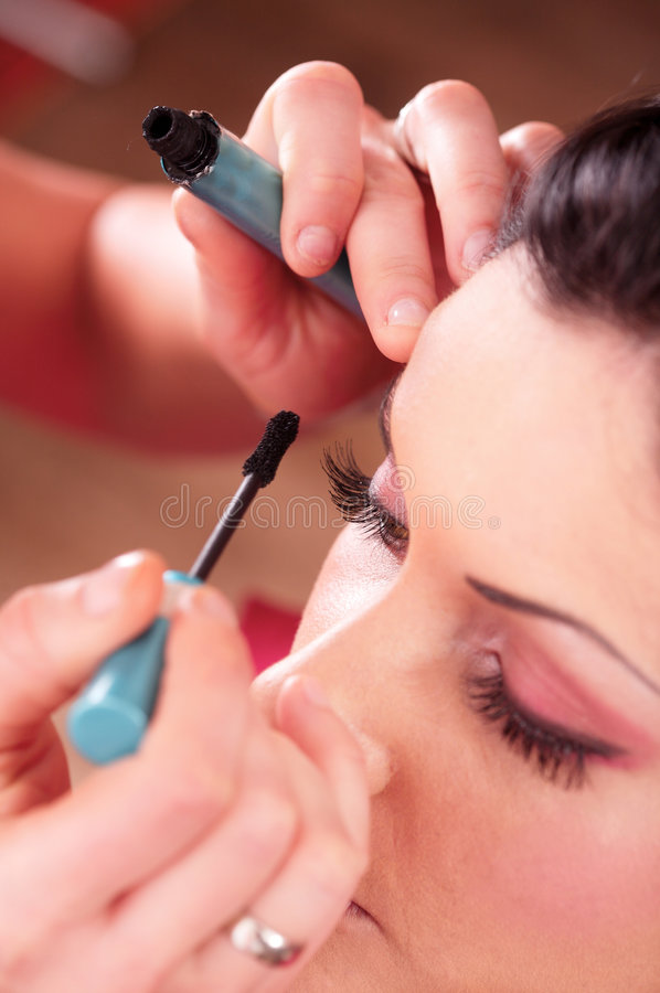 Makeup and beauty treatment royalty free stock images