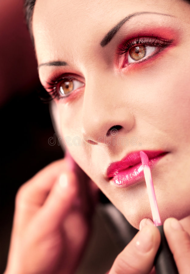 Makeup and beauty treatment royalty free stock image
