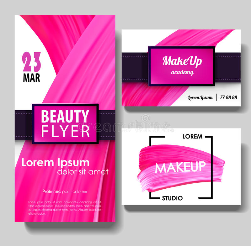 Makeup Beauty Vector Business Card Stock Vector - Illustration of ...