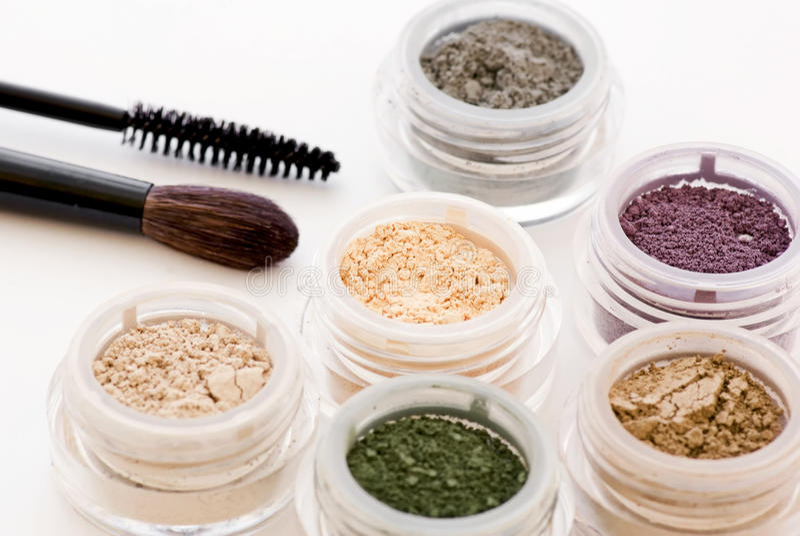 Makeup and Brush royalty free stock photos