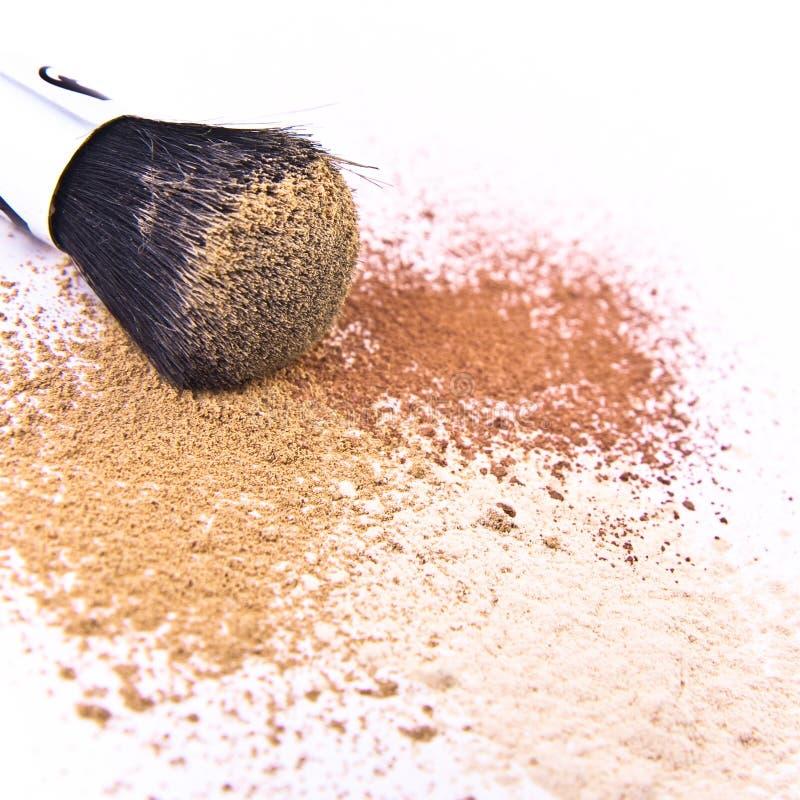 Free Makeup Brush And Powder Royalty Free Stock Images - 12191589
