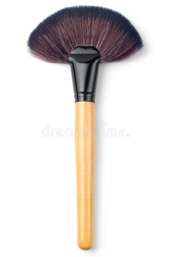 Makeup brush big fan. On white background royalty free stock images