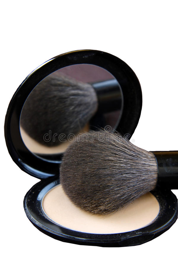 Download Makeup Brush And A Box Of Powder Stock Photo - Image: 17235984
