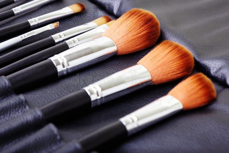 Makeup brush set royalty free stock image