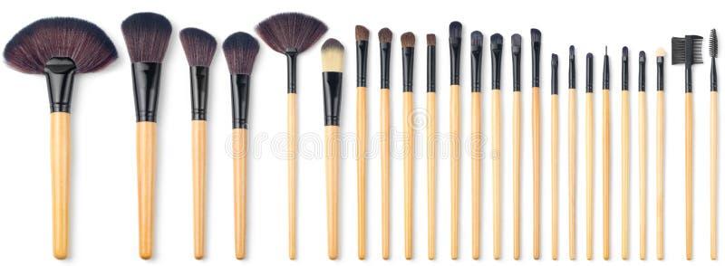 Makeup Brush Set, 24 pieces royalty free stock photos
